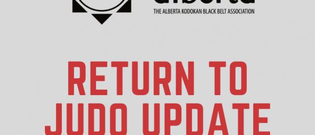 Return to Judo Guidelines (Updated October 29, 2020)