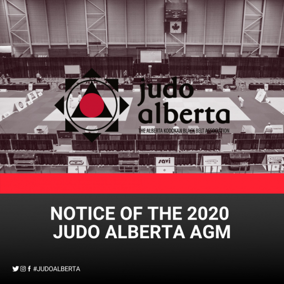 Notice of the 2020 Judo Alberta AGM
